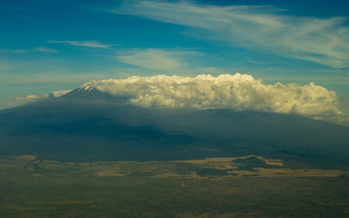 Aerial View of Kilimanjaro