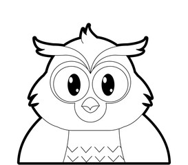 outline adorable owl cute animal character