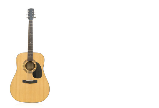 Guitar Isolated on White Background. for  copy space. Clipping