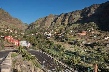La Gomera landscape, Cliff in Valle Gran Rey. Canary islands, Spain.