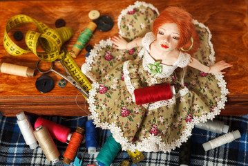 Doll and thread