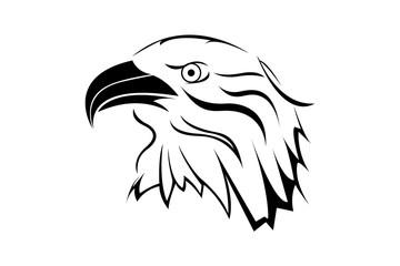 Eagle head logo illustration