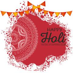 happy holi festival colors vector illustration design