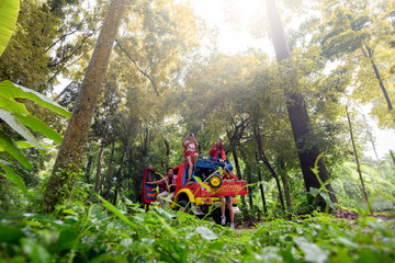 Young Asian Camper Enjoy adventure Trave