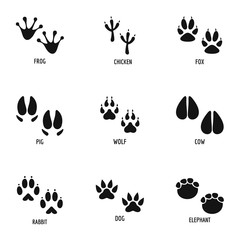 Mark of the beast icons set. Simple set of 9 mark of the beast vector icons for web isolated on white background