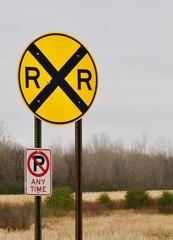 Circular Railroad Crossing Sign