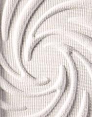 Spiral pattern on powdered white eyeshadow
