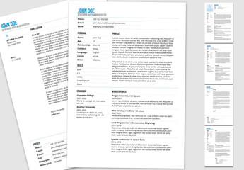 Resume Layout in Calm Blue Colors 1