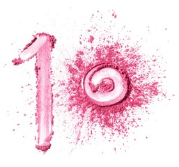 Number 10 in powdered pink cosmetics