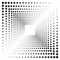 Оригинальный абстрактный фон из круглых точек с пространством для вставки текста или логотипа. Векторная иллюстрация.