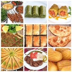 Turkish cuisine. Various meal and sweets