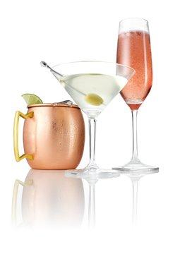 Cocktails with garnish
