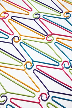 Colorful plastic hangers