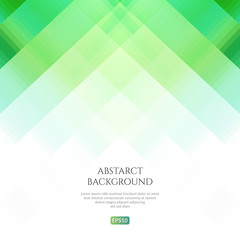 Abstract background with geometric patterns. Bright and fresh shades of green.