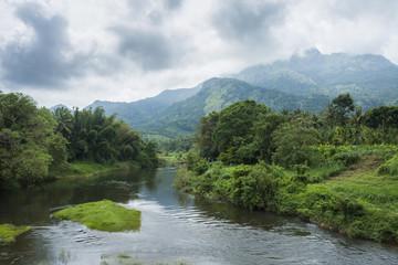 Tuinposter Rivier Bhavani river