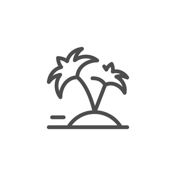 Vacation line icon