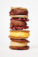 Stack of ice cream sandwiches