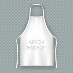 White isolated cooking apron or working uniform - fototapety na wymiar