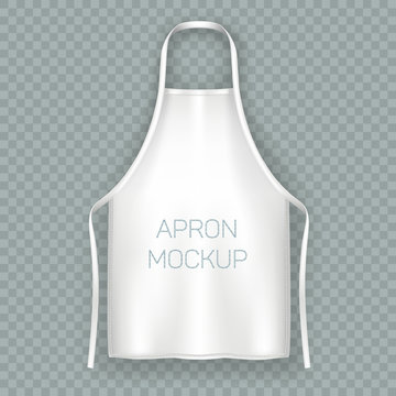 White isolated cooking apron or working uniform