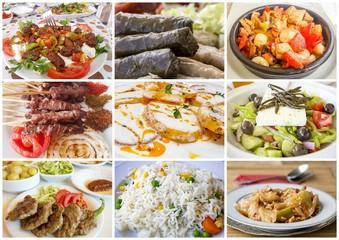 Türk Mutfağından çeşitli yemek kolajları