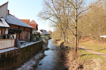 Der Fluss Gander in Bad Gandersheim