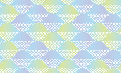 Fish scale abstract geometric seamless pattern.