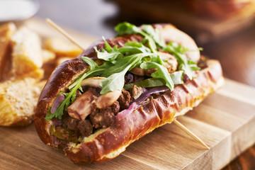 healthy meatless vegan sandwich