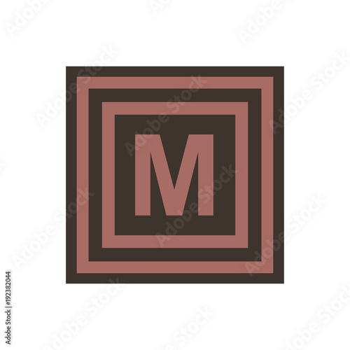 Vector Symbol Of Letter Mu Or M From The Greek Alphabet Stock Image