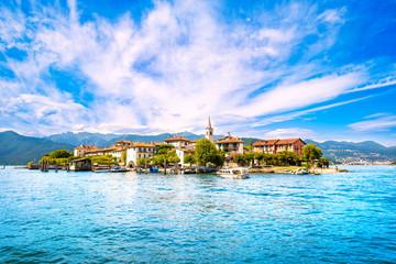 Isola dei Pescatori, fisherman island in Maggiore lake, Borromean Islands, Stresa Piedmont Italy