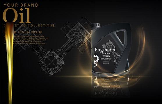 Enigne oil bottle. EPS10