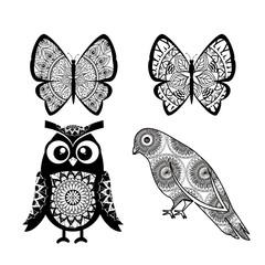 animals with skin boho style vector illustration design