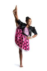 Image of flexible little girl doing vertical split