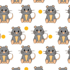 mouse cute wild animal character background