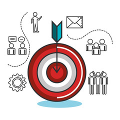 engage business set icons vector illustration design