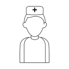 Nurse faceless avatar icon vector illustration graphic design
