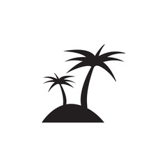 palms on the island icon. Elements of beach holidays icon. Premium quality graphic design. Signs and symbols icon for websites, web design, mobile app