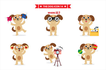 dog icon for sticker apps