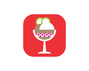 ice cream food culinary dish cuisine eat delicious image vector icon