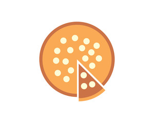 pizza food culinary dish cuisine eat delicious image vector icon