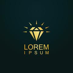 gold diamond jewelery logo