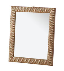 Picture frame with mirror isolated on white background with clipping path.