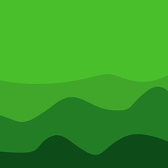 Green Mount Background Vector Template Design