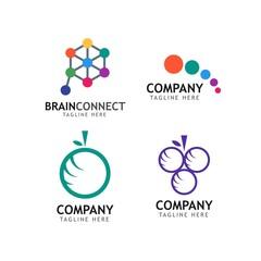 Company Logo Set Vector Template Design