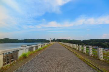 湖の堤体の風景9