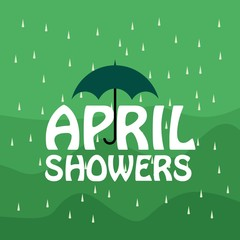 April Showers Vector Template Design
