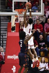 NCAA Basketball: Illinois at Indiana