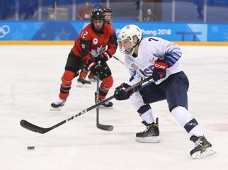 Olympics: Ice Hockey-Women Team Group A - USA-CAN