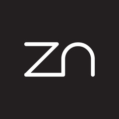 initial letter rounded logo modern white