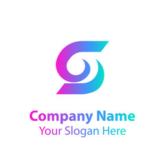Abstract logo design in gradient color style on white background, Abstract graphic icon, logo design template, symbol for company