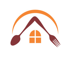 restaurant cafe house cutlery kitchenware icon image vector
